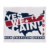 Herman Cain Throw Blanket