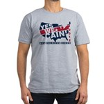 Herman Cain Men's Fitted T-Shirt (dark)