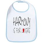 Harmony Is For Lovers Bib