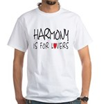 Harmony Is For Lovers White T-Shirt