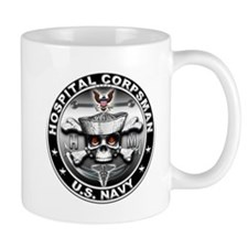 USN Hospital Corpsman Skull H Coffee Mug