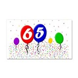 65th Birthday Car Magnet 20 x 12