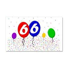 66th Birthday Car Magnet 20 x 12
