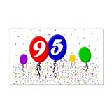 95th Birthday Car Magnet 20 x 12