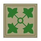 4th Infantry Tile Coaster