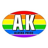 Alaska Pride Oval Decal