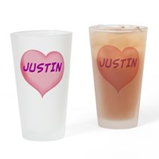 justin heart Drinking Glass