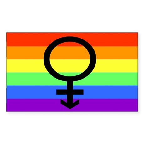 Transwoman Rainbow Sticker