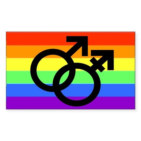Gay Transman Rainbow Sticker