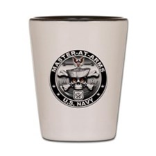 USN Master-At-Arms Skull MA Shot Glass