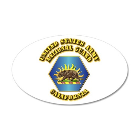 Army National Guard - California 22x14 Oval Wall P