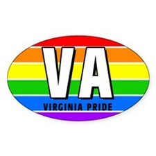 Virginia Pride Oval Decal