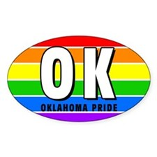 Oklahoma Pride Oval Decal