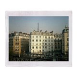 Paris Apartments and Eiffel T Throw Blanket