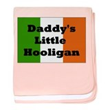 Daddy's Hooligan Flag baby blanket