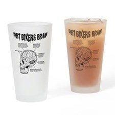 Dirt Bikers Brain Drinking Glass