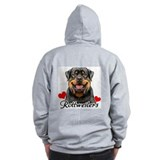 Love Rottweilers  Zip Hoodie