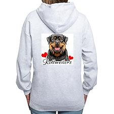 Love Rottweilers Zip Hoodie