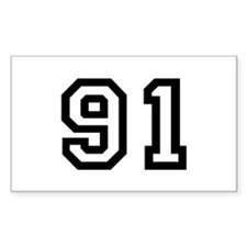 Number 91 Rectangle Decal