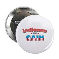 "Indianan for Cain 2.25"" Button"