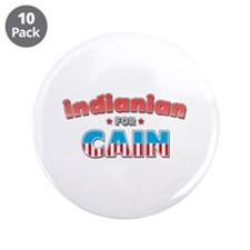 """Indianian for Cain 3.5"""" Button (10 pack)"""