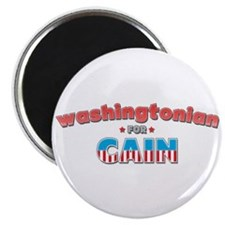 """Washingtonian for Cain 2.25"""" Magnet (100 pack)"""