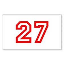 Number 27 Rectangle Decal