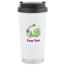 Personalized French Horn Ceramic Travel Mug