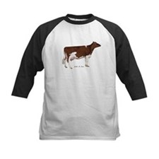 Red and White Holstein cow Tee