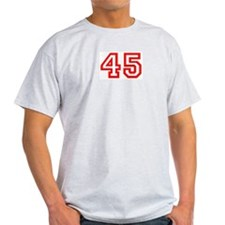Number 45 Ash Grey T-Shirt