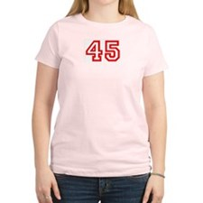 Number 45 Women's Pink T-Shirt