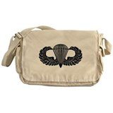 Parachutist -- B-W Messenger Bag