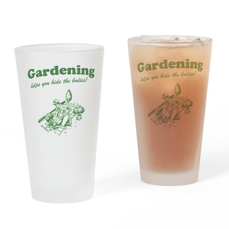 Gardening Helps Drinking Glass