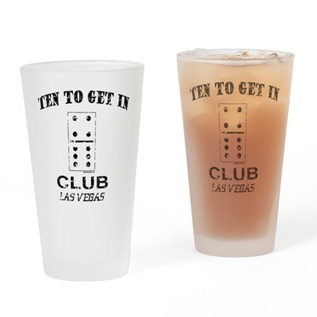 Club 10 Drinking Glass