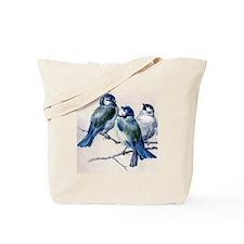 Winter Bluebirds Tote Bag