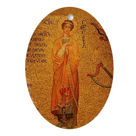 Saint Cecilia Ornament (Oval)