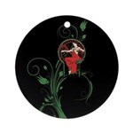 Mucha art christmas Ornament (Round)