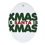 Santas Xmas Ornament (Oval)