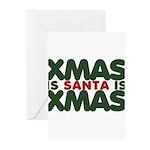 Santas Xmas Greeting Cards (Pk of 20)