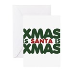 Santas Xmas Greeting Cards (Pk of 10)