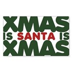 Santas Xmas Sticker (Rectangle 50 pk)