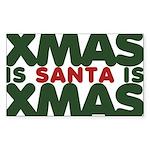 Santas Xmas Sticker (Rectangle)