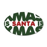 Santas Xmas 38.5 x 24.5 Oval Wall Peel