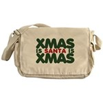 Santas Xmas Messenger Bag