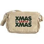 Santas Xmas Messenger Bag