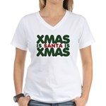 Santas Xmas Women's V-Neck T-Shirt