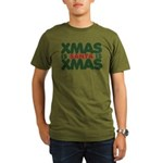 Santas Xmas Organic Men's T-Shirt (dark)