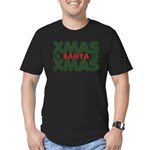 Santas Xmas Men's Fitted T-Shirt (dark)