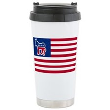 Democrat Ceramic Travel Mug