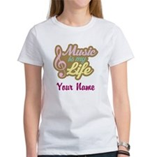 Personalized Music Quote Women's T-Shirt